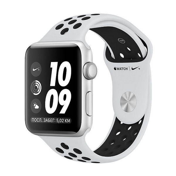 Смарт-часы Apple Watch Series 3 42mm Aluminum Case with Nike Sport Band, Silver
