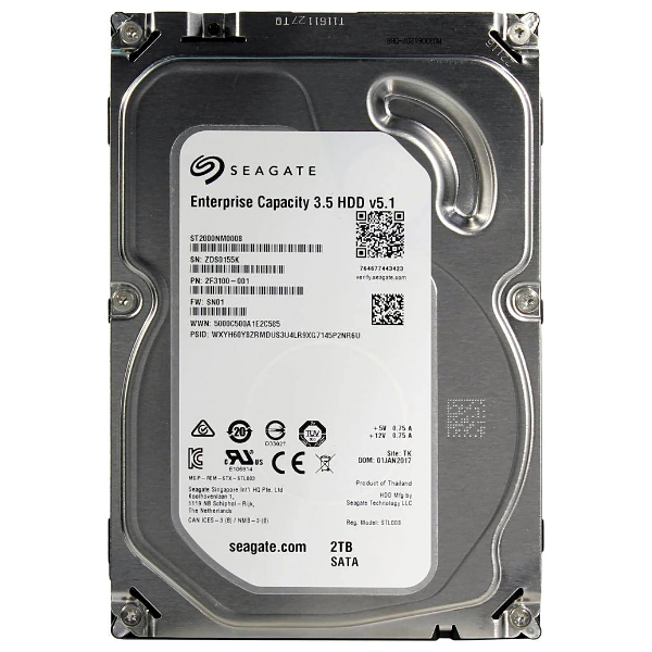 "Жесткий диск 3.5"" 2Tb Seagate Enterprise Capacity ST2000NM0008, 7200rpm, 128Mb, SATA3"