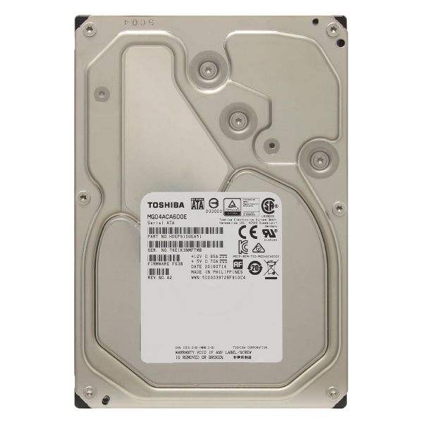 "Жесткий диск 3.5"" 6Tb Toshiba Enterprise Capacity MG04ACA600E, 7200rpm, 128Mb, SATA3"