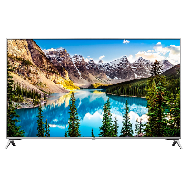 "Телевизор ЖК 48.5"" LG 49UJ651V, 3840x2160, IPS, Smart TV, Wi-Fi, серо-серебристый"