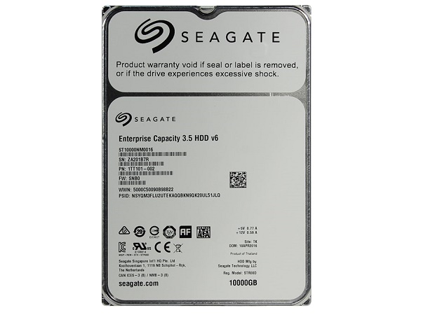 "Жесткий диск 3.5"" 10Tb Seagate Enterprise Capacity ST10000NM0016, 7200rpm, 256Mb, SATA3"