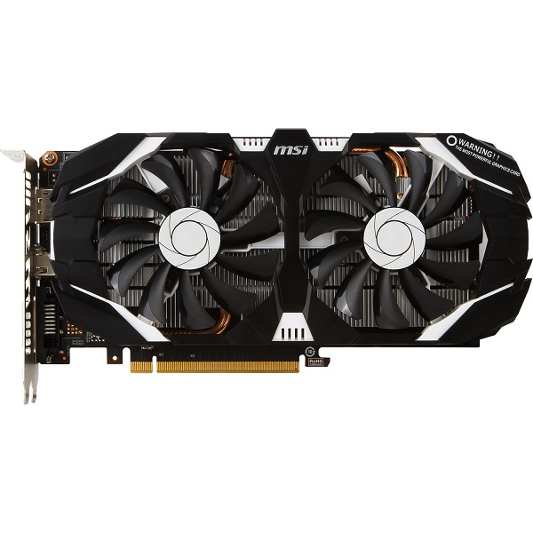 Видеокарта GeForce GTX1060 3072Mb MSI GTX 1060 3GT, 1544/8008, 192bit, GDDR5, DVI, HDMI, DP