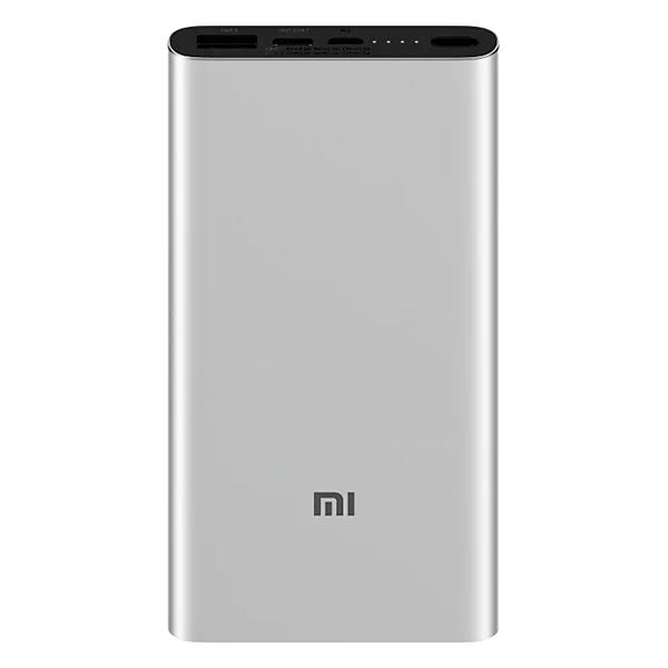 Универсальный внешний аккумулятор Xiaomi Mi Power Bank 3 10000 (PLM13ZM), 10000mAh, 2хUSB, серебристый - фото №1