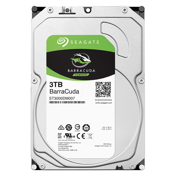 "Жесткий диск 3.5"" 3Tb Seagate BarraCuda ST3000DM007, 5400rpm, 64Mb, SATA3"
