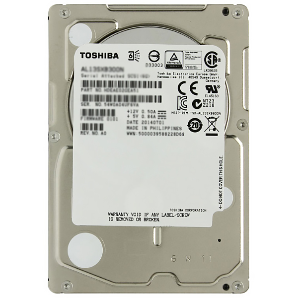 "Жесткий диск 2.5"" 1800Gb Toshiba AL14SEB18EQ, 10500rpm, 128Mb, SAS 3.0"