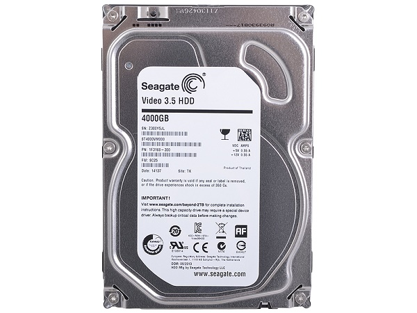 "Жесткий диск 3.5"" 4Tb Seagate Video ST4000VM000, 5900rpm, 64Mb, SATA3"