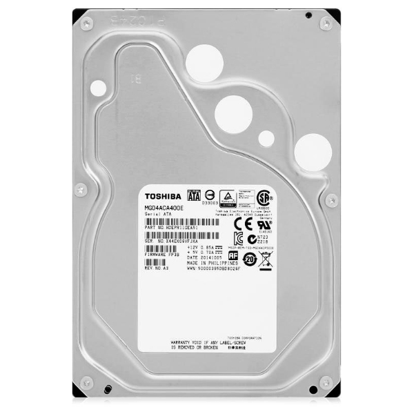 "Жесткий диск 3.5"" 4Tb Toshiba Enterprise Capacity MG04ACA400E, 7200rpm, 128Mb, SATA3"