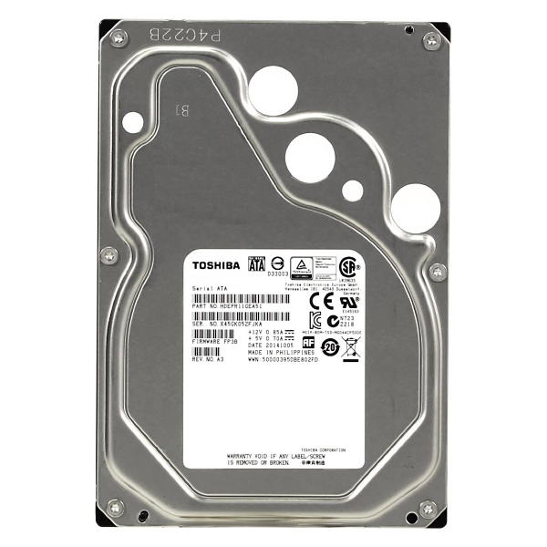 "Жесткий диск 3.5"" 2Tb Toshiba Enterprise Capacity MG04ACA200E, 7200rpm, 128Mb, SATA3"