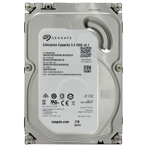 "Жесткий диск 3.5"" 1Tb Seagate Enterprise Capacity ST1000NM0008, 7200rpm, 128Mb, SATA3"