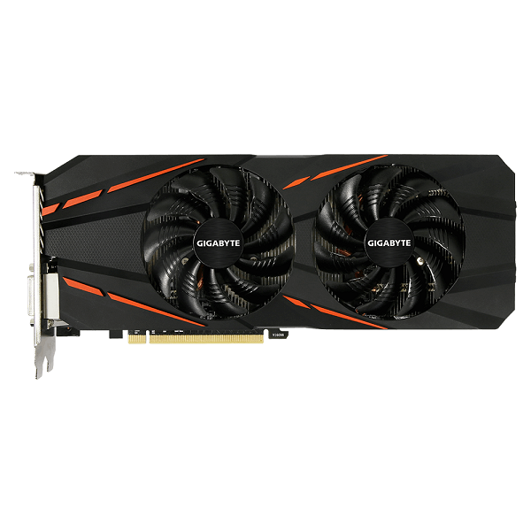 Видеокарта GeForce GTX1060 6144Mb Gigabyte GV-N1060G1 GAMING-6GD, 1620/8008, 192bit, DDR5, DVI, HDMI, 3хDP