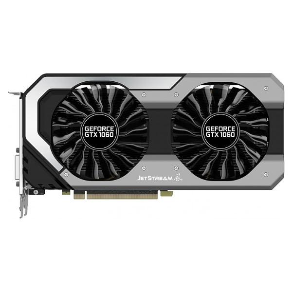 Видеокарта GeForce GTX1060 3072Mb Palit PA-GTX1060 SUPER JETSTREAM 3G, 1594/8000, 192bit, GDDR5, DVI, HDMI, 3xDP