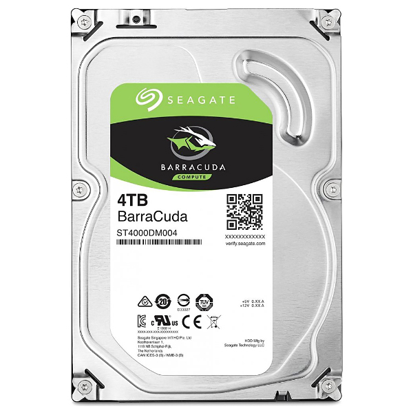 "Жесткий диск 3.5"" 4Tb Seagate BarraCuda ST4000DM004, 5400rpm, 256Mb, SATA3"