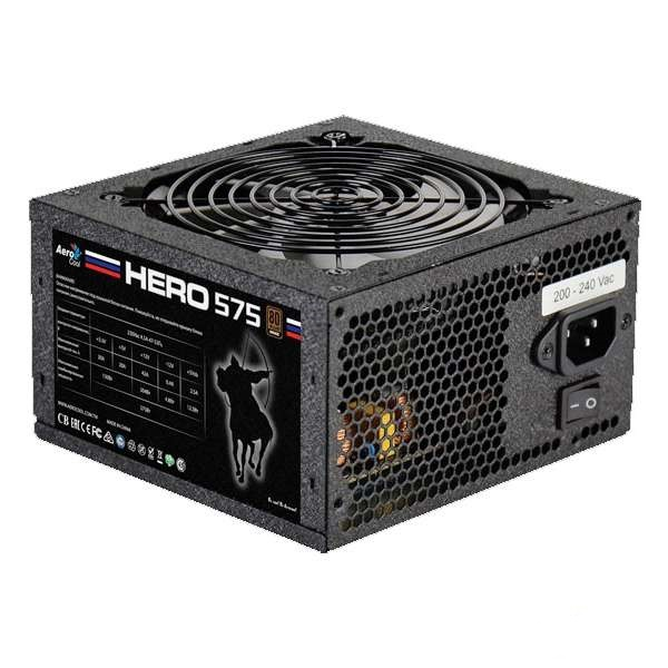Блок питания ATX 575 Вт AeroCool Hero 575, 80Plus Bronze